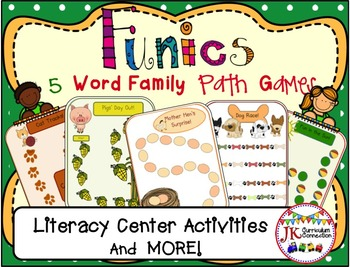 Short Vowel Word Family Path Games