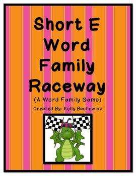 Word Family Game (Short E Raceway)