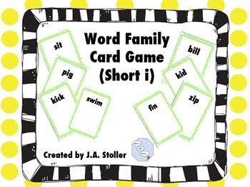 Word Family Game Short I