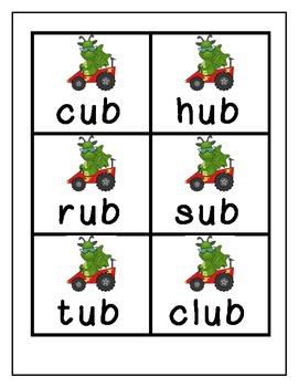 Word Family Game (Short U Raceway)