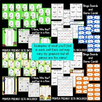 Word Family Games BUNDLE #1! [[700+ pages]]