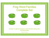 Word Family Games: Frog Theme Complete Set