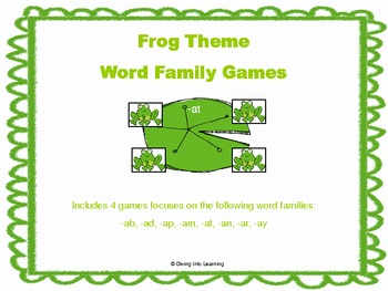 Word Family Games: Frog Theme Set 1