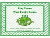 Word Family Games: Frog Theme Set 2
