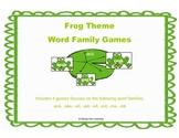 Word Family Games: Frog Theme: Set 3