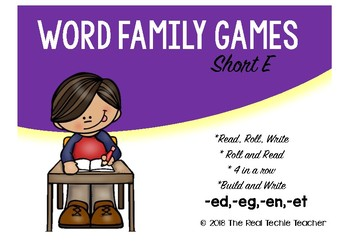 Word Family Games {Short E edition}