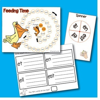 Word Family Games - short vowel sounds