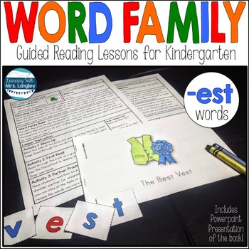 Word Family Guided Reading: The Best Vest
