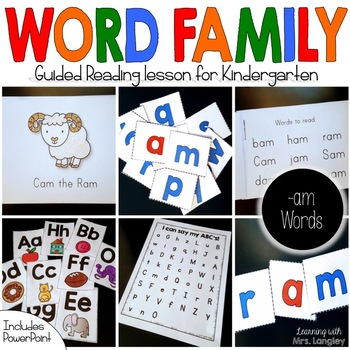 Word Family Guided Reading: Cam the Ram
