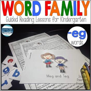 Word Family Books: Meg and Teg