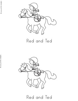 Word Family Books: Red and Ted