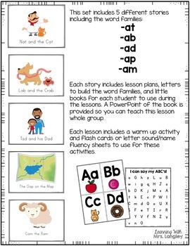 Word Family Guided Reading: Short A Word Family Bundle
