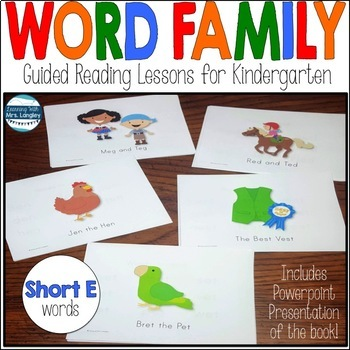 Word Family Books: Short E Word Family Bundle