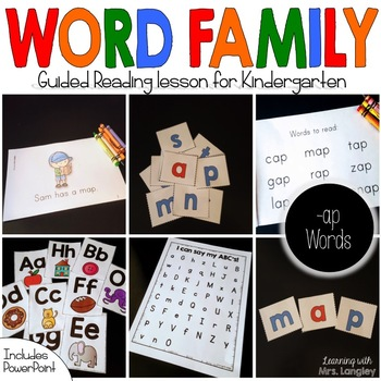 Word Family Guided Reading: The Gap on the Map