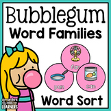 Word Family Sort - Gumballs
