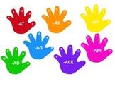 Word Family Hand Prints