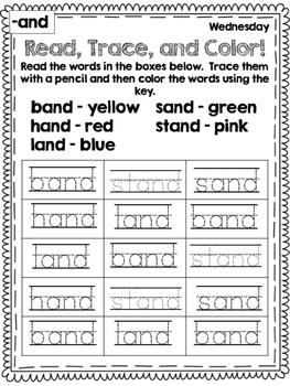 Word Family Homework Pack 2