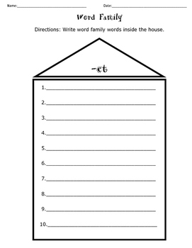 Word Family House Bundle
