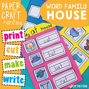 Word Family House Craft Writing Activity