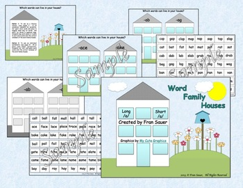 Word Family Houses: Long and Short /a/