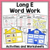 Word Family Houses - Long e Centers!