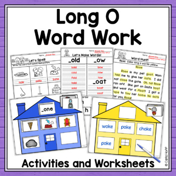 Word Family Houses - Long o Centers!