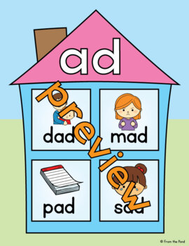 Word Family Houses - Posters for the Classroom