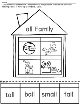 Word Family Houses -Short Vowel Sounds