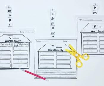 Word Family Houses - Slide, Blend, and Write