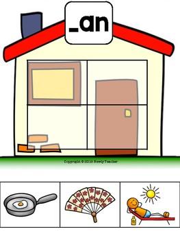Word Family Houses Sort