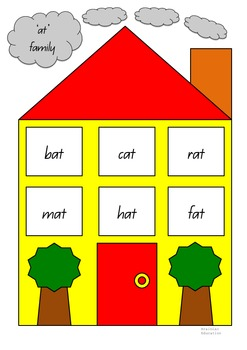 Word Family Houses Sorting Cards