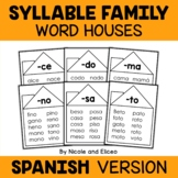 Word Family Houses - Spanish Syllables