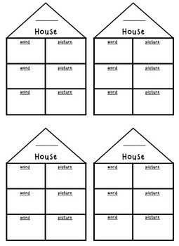 Literacy Notebooks: Word Family Houses