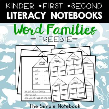 Literacy Journals: Word Family Houses