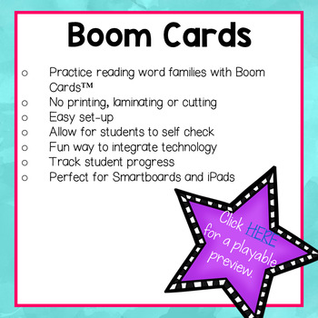Word Family I Boom Cards