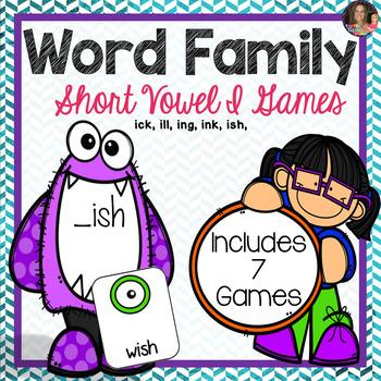 Word Family I Games (CVCC)