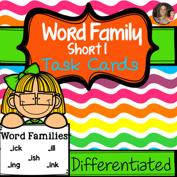 "Word Family ""I"" Task Cards"