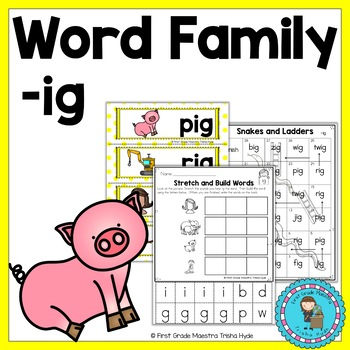 IG Word Family Word Work