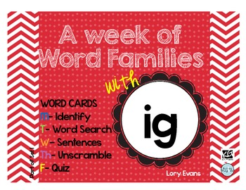 Word Family - ig family