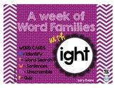 Word Family - ight family