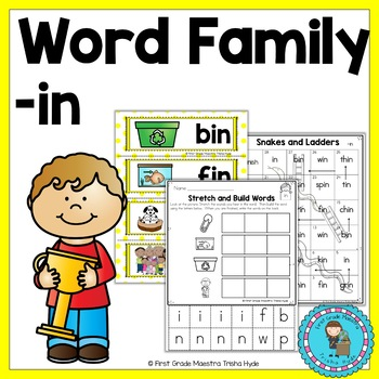 IN Word Family Word Work