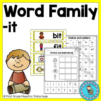 Word Family IT Word Work
