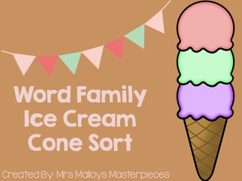 Word Family Ice Cream Cone Sort