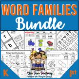 Word Families Kindergarten and 1st  Interactive BUNDLE