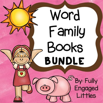 Word Family Books- Color, Match, Write, and Draw