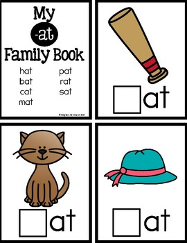 CVC Short A Word Family and Phonemic Awareness Interactive Books