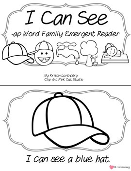Word Family Interactive Emergent Reader (-ap)