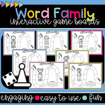 Word Family Interactive Game Board