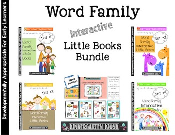 Word Family Interactive Little Books: BUNDLE