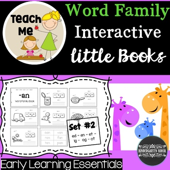 Word Family Interactive Little Books: Set #2